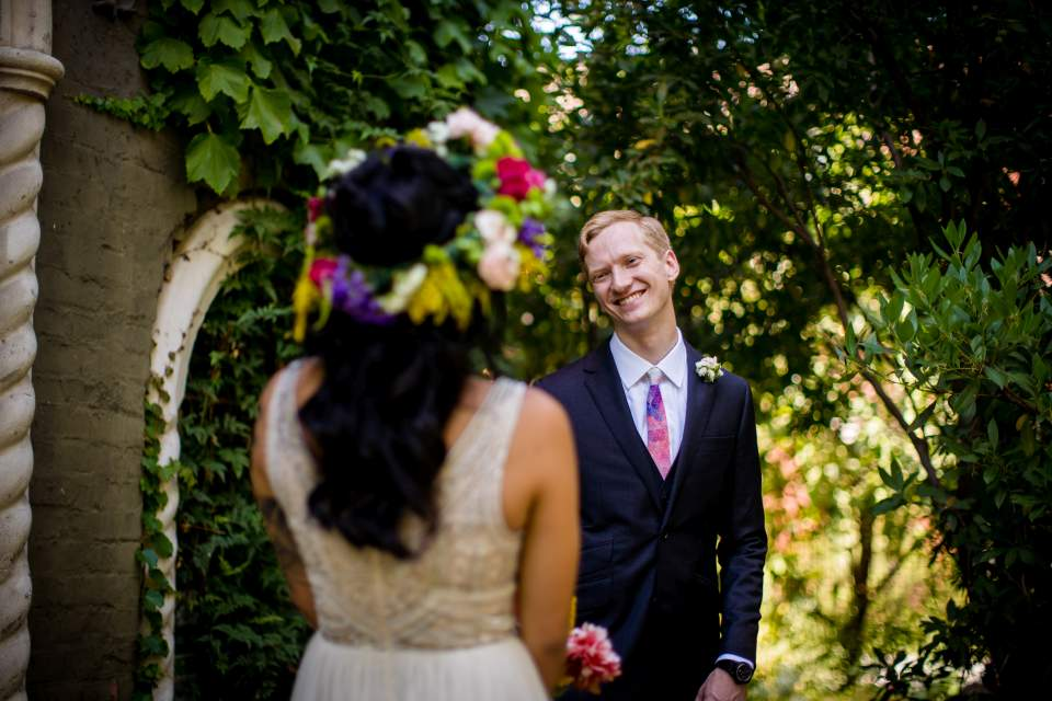groom reaction first look