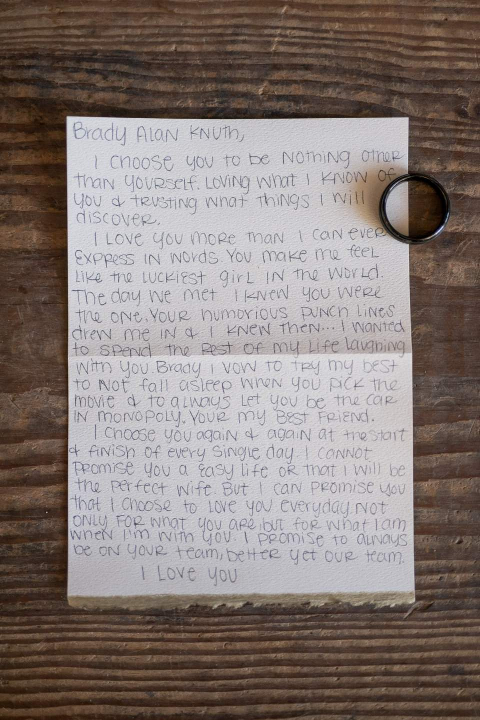 grooms ring and wedding vows