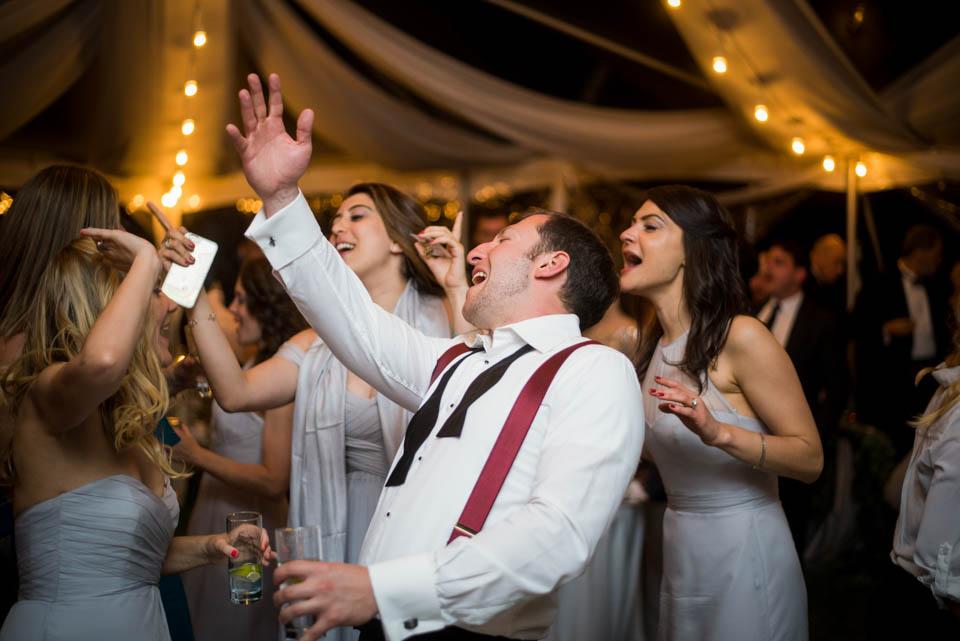 guests enjoying wedding reception