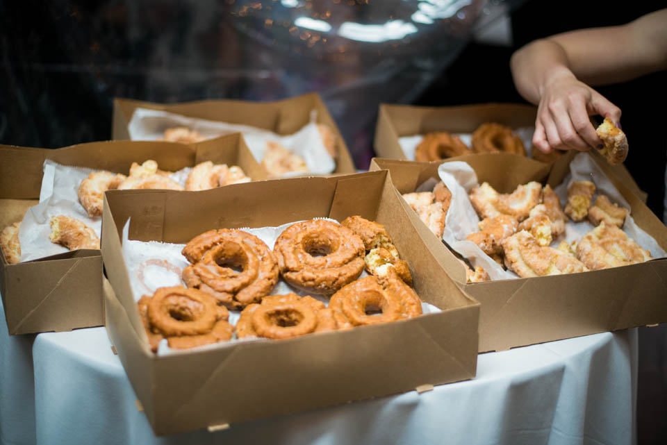 late night wedding donuts