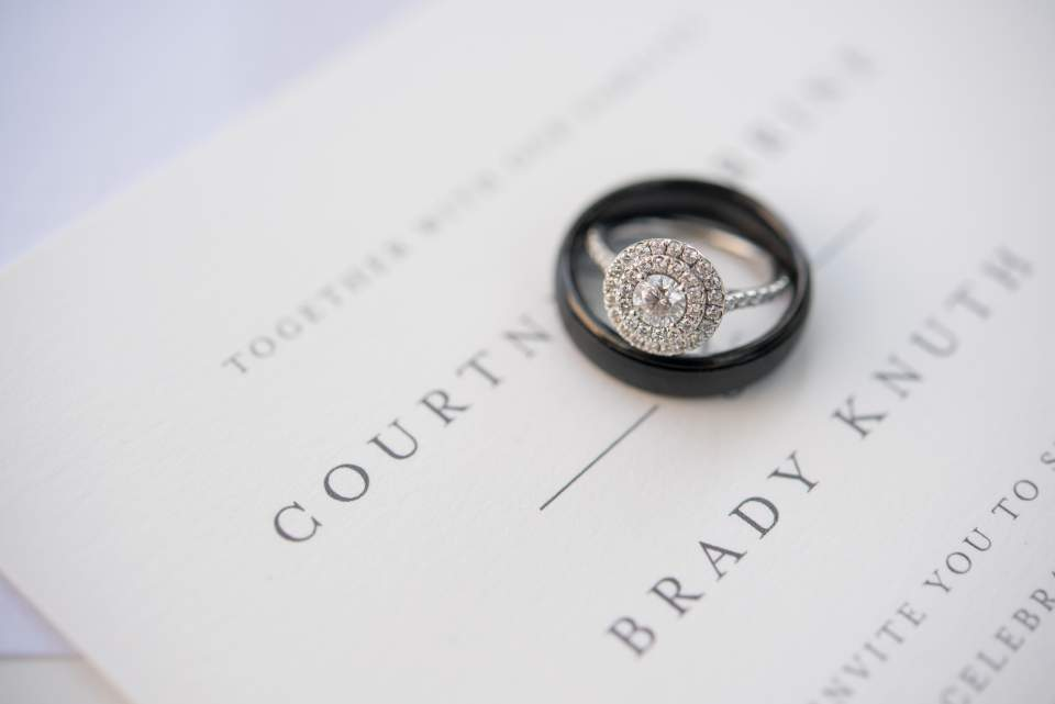 macro wedding ring photo