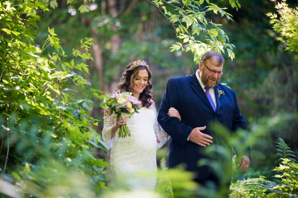 magical forest elopement at treehouse point