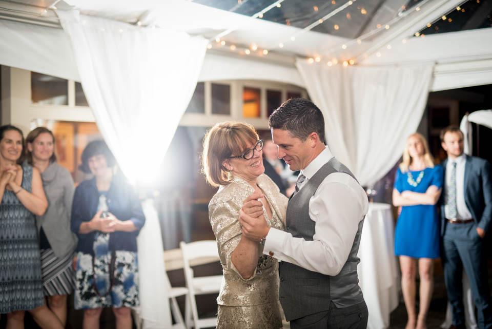 mother son salish lodge wedding dances