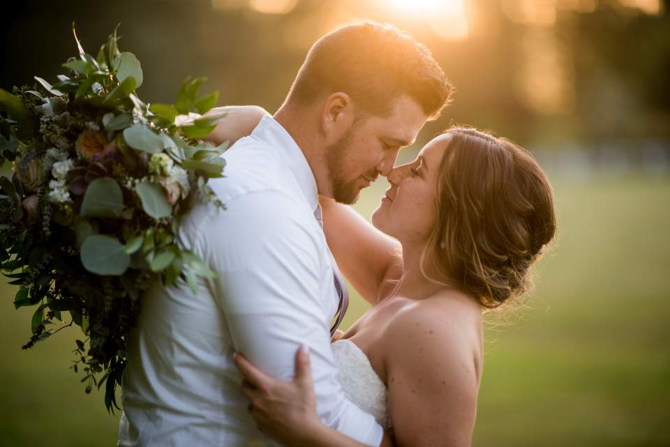 romantic light filled wedding images