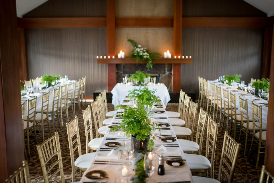 salish lodge wedding reception tables