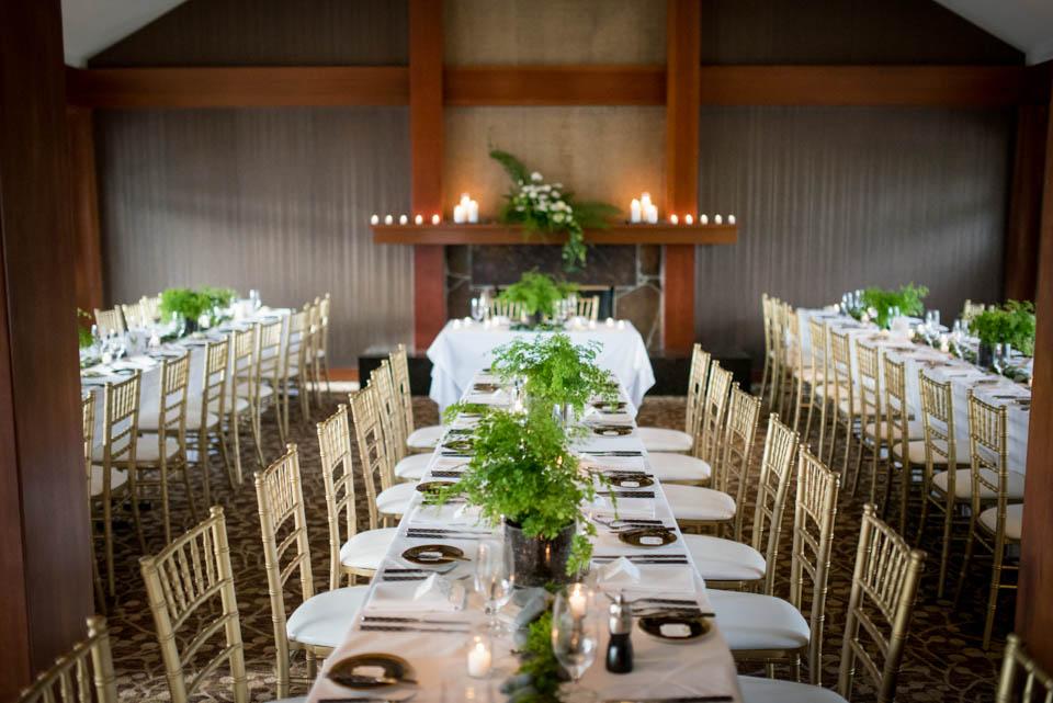 salish lodge wedding reception tables