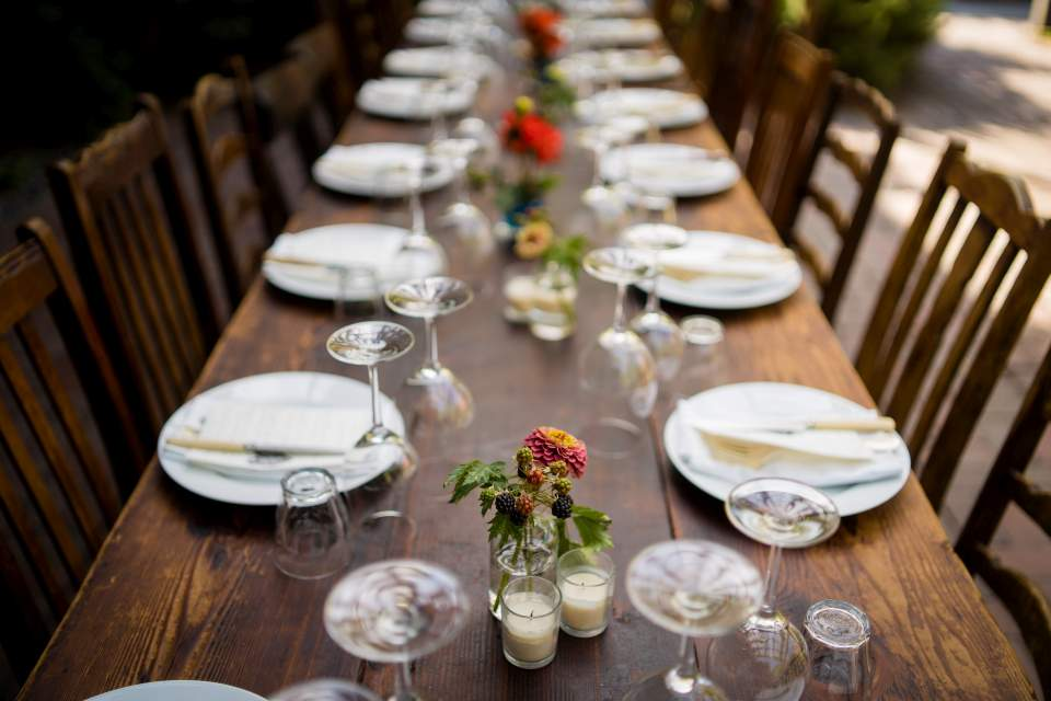 simple and elegant boho wedding