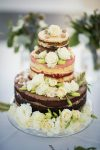 stunning floral naked wedding cake
