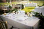 sweat heart table elegant outdoor wedding