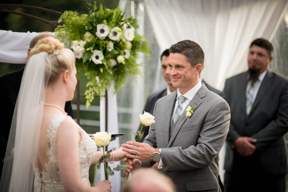 tent wedding ceremony photos