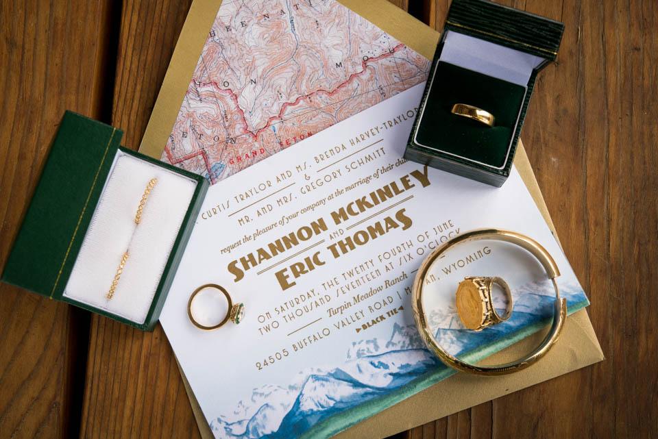 teton rustic mountain wedding ivitation suite map themed wedding invitations