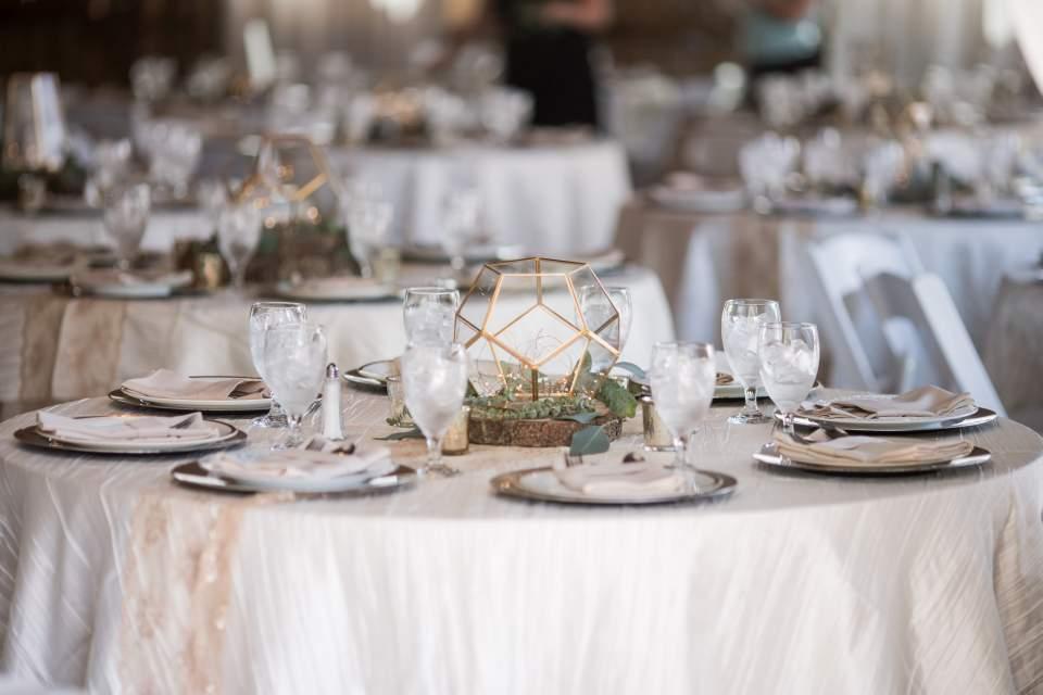wedding reception decor at maplehurst farm