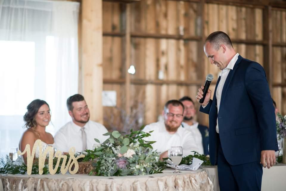 wedding reception in maplehurst farm barn