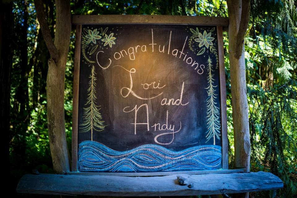 welcome sign at treehouse point