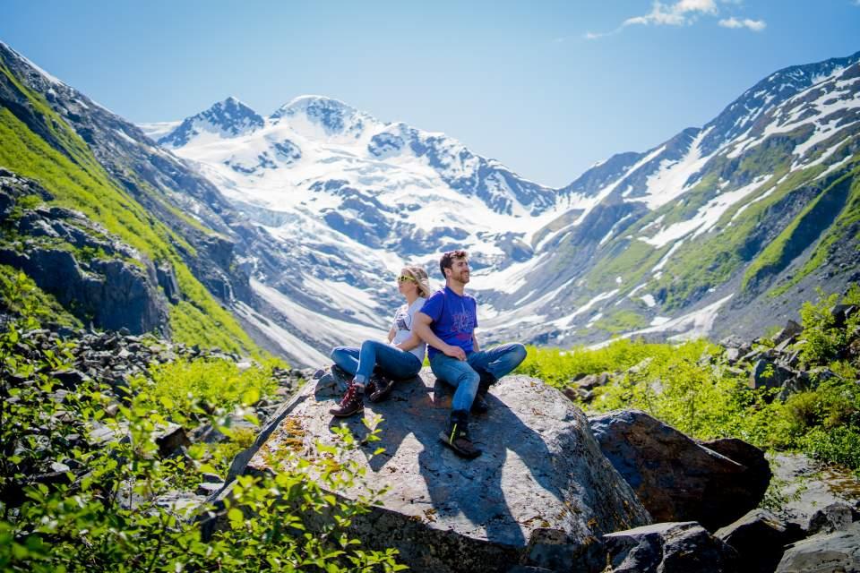 alaska mountain engagement photos