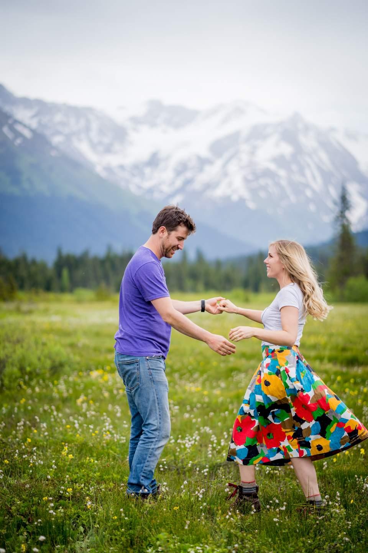 couple dancing in moose meadows