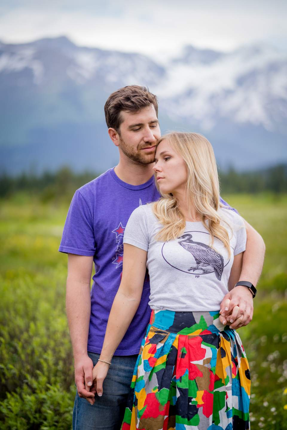 engagement photos in girdwood alaska