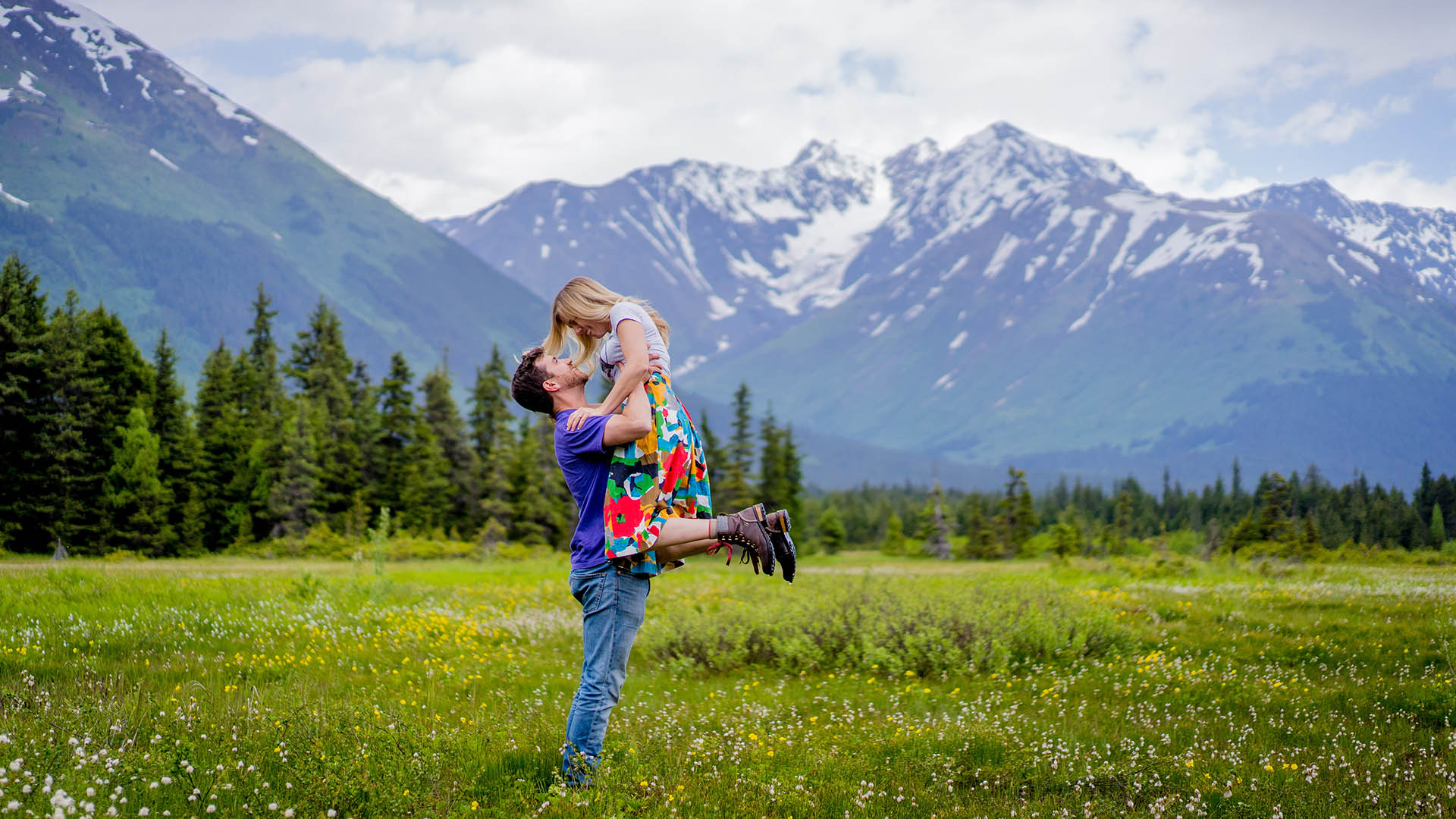 girdwood engagement photos alaska wedding photographer