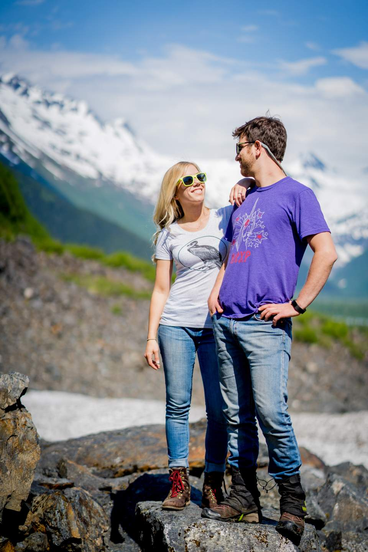 glacier engagement photos in alaska