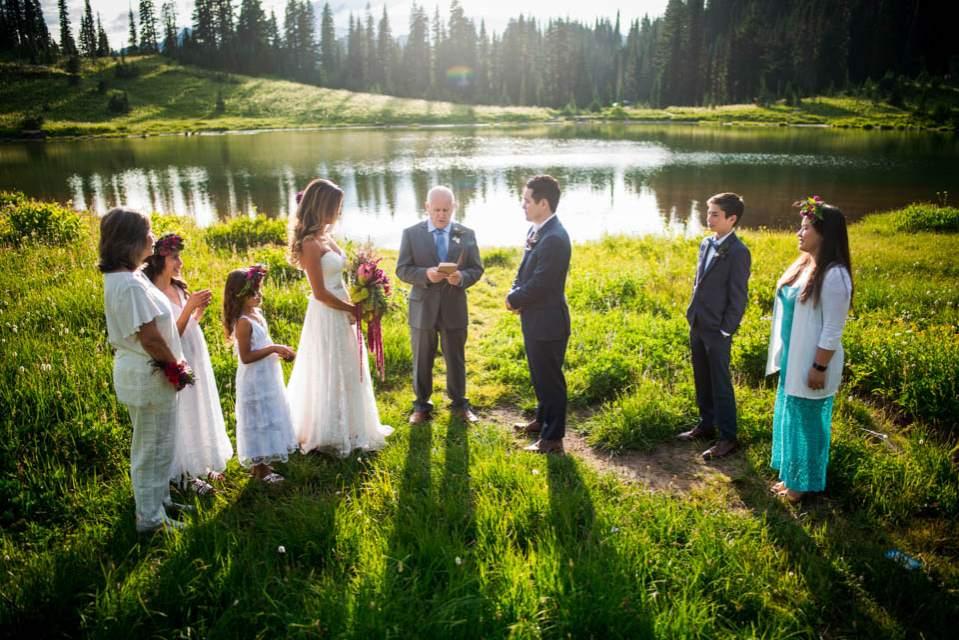 adventure elopement at alpine lake