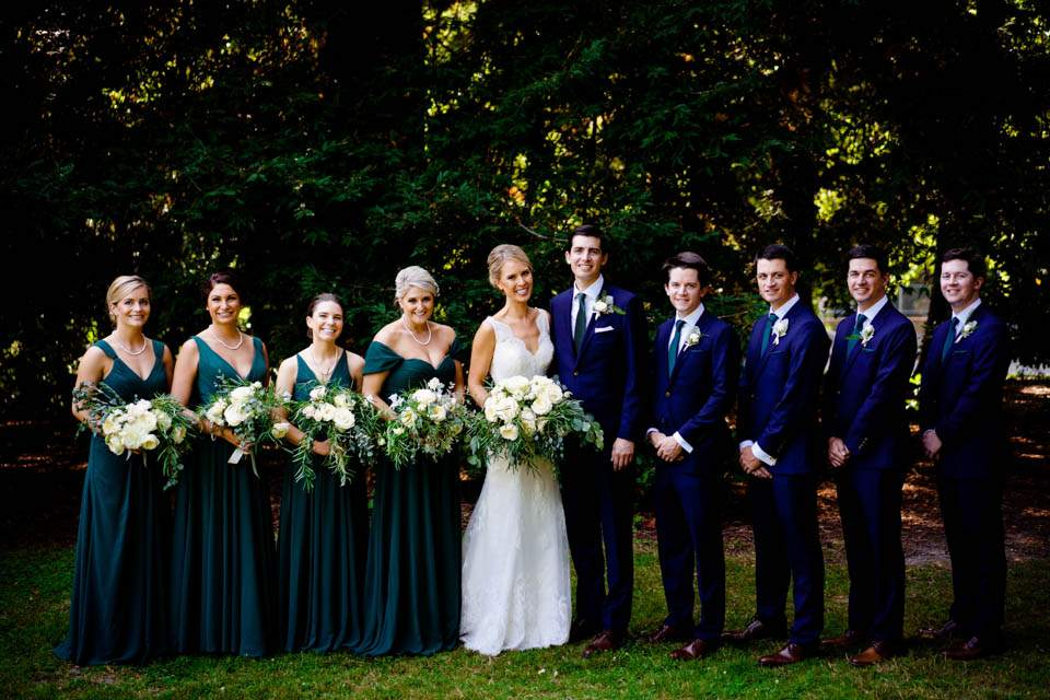 emerald green and navy wedding colors