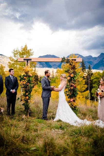 fall colorado destination elopement