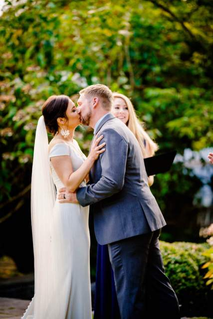 first kiss at roche harbor wedding