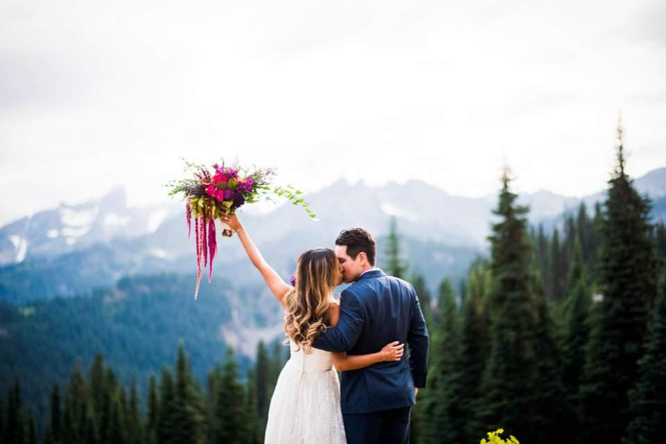 mount rainier wedding photos