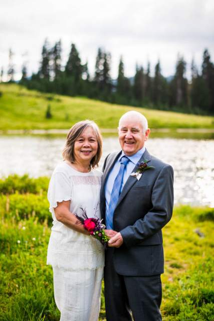 older couple wedding photo