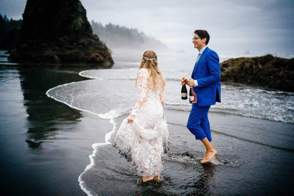olympic national park beach wedding photos