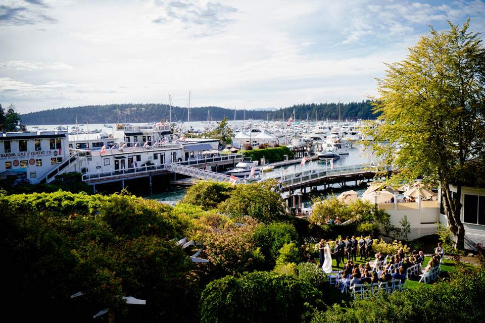 roche harbor resort ceremony space from above