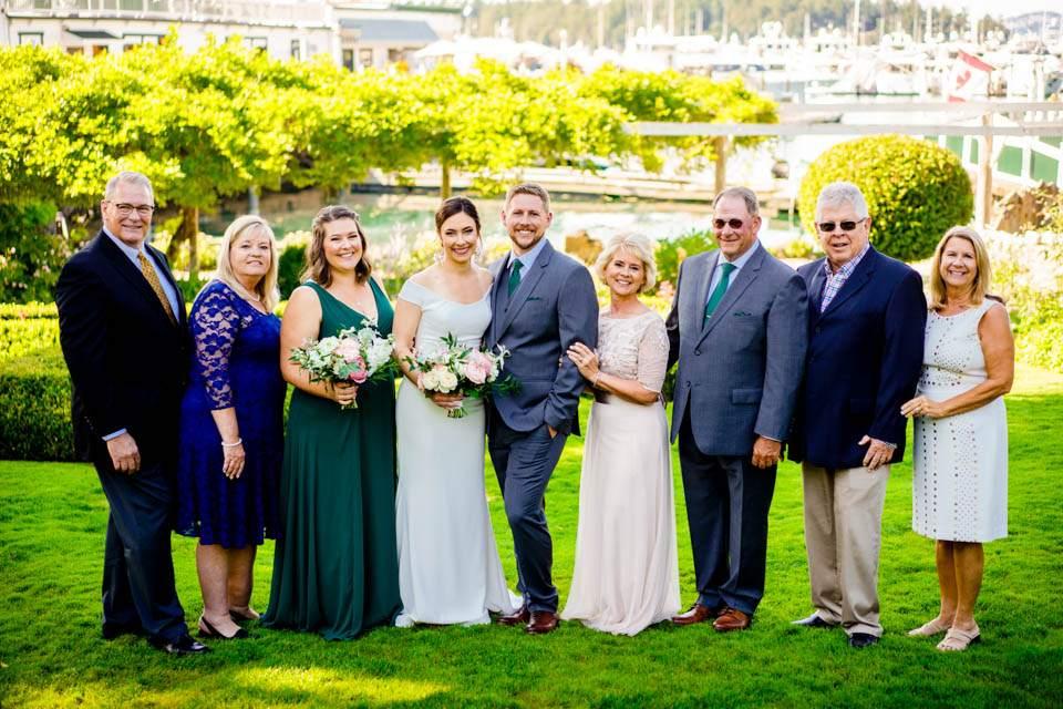 roche harbor wedding family photos